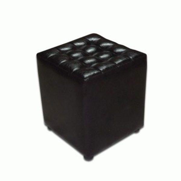 чорний, квадратний пуфик для вашого дому