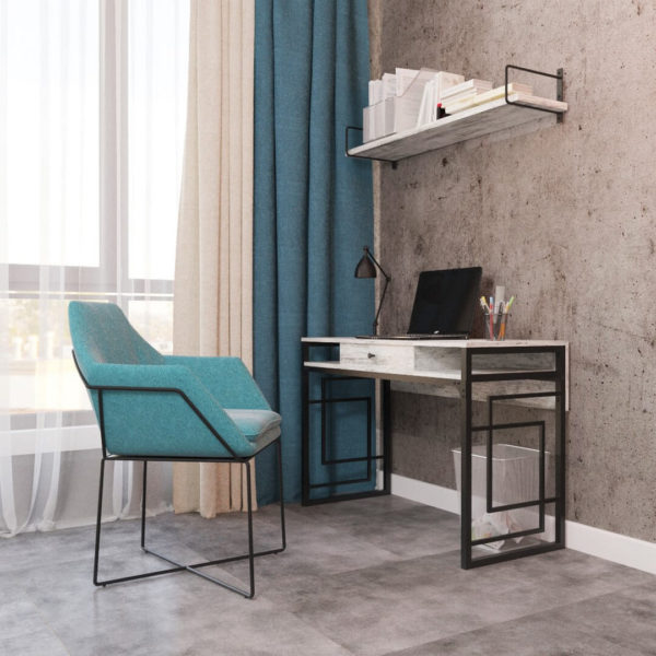 стіл робочий в стилі лофт Квадро
